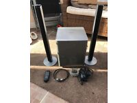 Samsung sound bar and sub woofer - good condition