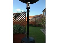Patio heater with hose and regulator - no gas bottle