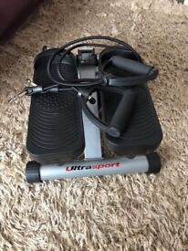 Ultra sport Home trainer Swing Stepper with resistance cords
