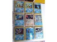 Rare out of print holo shiny Pokemon cards - Gyarados collection / set