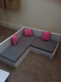 Huge DesignaFriend sofa and table. Immaculate condition !!
