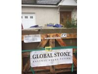 Global Stone Old Rectory York stone Green. Approximately 4.5 square meters