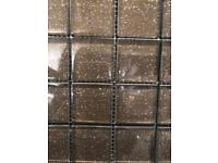 Mosaic tiles £6.99, SUNSET BROWN