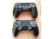 2 BRAND NEW PS4 CONTROLLERS GENUINE