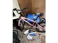 Girls & boys bike, great condition pink and green