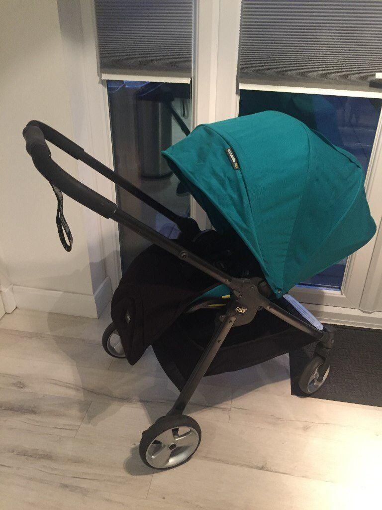 Mamas and Papas Armadillo Flip with Cybex Aton Cloud Q Lie Flat Car Seat