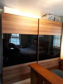 Walnut Sliding Wardrobe - Excellent Condition like new