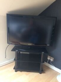 Samsung 37inch tv with glass stand