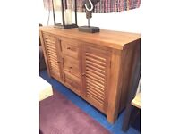 Solid Mango Wood Large Sideboard, Not flatpack !