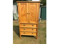 Solid pine three drawer storage cabinet (can deliver)