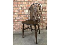 Vintage Beech Wheel Back Dinning Chair