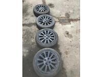 4 Stud Alloys (TYRES GOOD CONDITION) Rover alloys