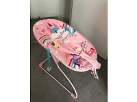 Baby girl bouncer with music and vibration