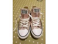Converse Authentic Rose Gold Trainers - size 6