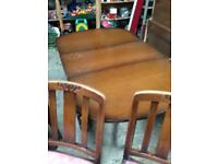 Drop leaf dining table x4 chairs