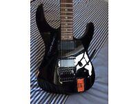 Ltd KH-25 Solid Body Electric Guitar Black pre-worn