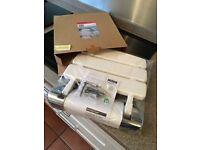 Mira Shower Seat - white/chrome. Folding. Brand new still in box