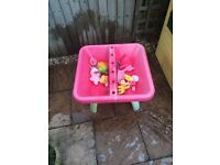 ELC sand and water table with toys