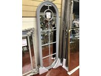 NEW Tall arched grey window mirror ONLY £129 local delivery available MIR-10G