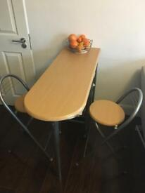 Breakfast dining set and 2 chairs