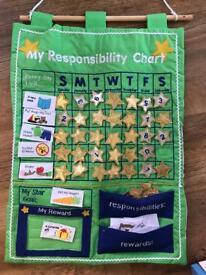 Beautiful fabric reward chart