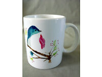 Japanese Blue Bird Ceramic Mug with gift box/Made to order/NEW