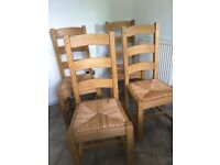 Dining chairs - solid wood. VG cond. Studio One