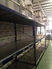 HI-LO INDUSTRIAL LONGSPAN SHELVING 2.1 METERS HIGH AS NEW ( PALLET RACKING , STORAGE)