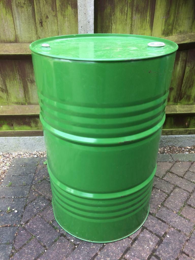 Large Metal Drum Many Uses Such As Garden Water Butt Homemade Bbq More