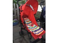 Mothercare Nanu+ Lightweight portable buggy red