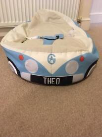 Baby beanbag name printed on (THEO)