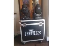 2 X Chauvet 355z IRC - 90W Moving Heads with Chauvet Custom Flightcase inc Wedding Gobo Pack