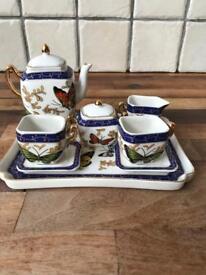 Beautiful Ornate Mini Tea Tray Set