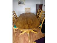 Dining Table & 6 Chairs - Reduced Price !