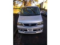 2002 Mazda Bongo 2.0 Aero City Runner 4 door MPV Petrol Automatic with low mileage. Silver.