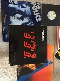Police vinyl albums and books