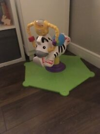 Fisher Price Bounce and Spin Zebra - Immaculate condition, looks new