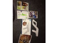wii games and wii remote zapper , prices in description