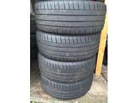 4 x Michelin Pilot Sport 3 tyres. 195 55 16 84V