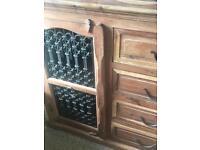 Solid oak rustic sideboard