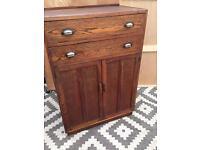 Vintage oak drawers / cupboard / tallboy