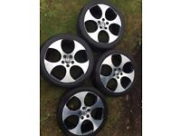 VW golf gti mk6 2012 alloys genuine factory wheels by ronal. excellent condition