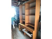 2 x Ikea Office book Case with Filing. Beech wood