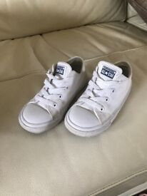 Converse white trainers