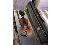 Violin with bow with carry case. Excellent condition, tuned and well looked after