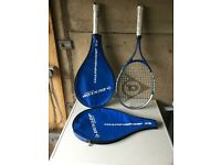 Dunlop Championship 25 Tennis Rackets with covers