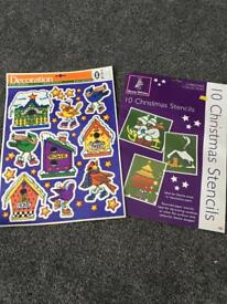 Christmas stickers and stencils