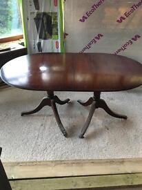 Dining table in mahogany regency style