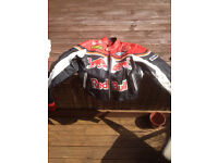 Red Bull motorcycle leathers