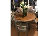 Round Rustic Dining Table and Chairs